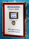 The Environics® Series 3000 Gas Blending - Gas Delivery System offers on-site gas blending of 100% pure bulk gases and is configured to provide a solution to using costly premixed cylinders of gas.